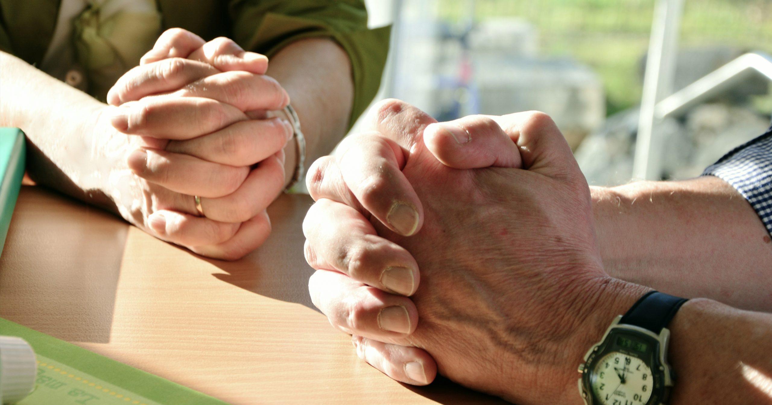 betende Hände